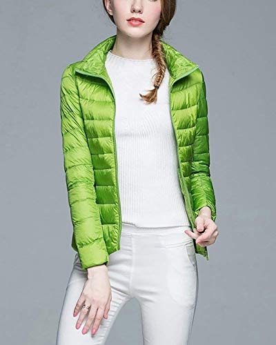 Winter Long Puffer Women Green Vdual Packable Sleeve Jacket Jacket Down Lightweight XSnpq