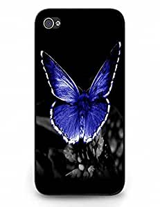 Plastic Phone Case Vintage Magic Butterfly On Flower Case For Ipod Touch 4 Cover