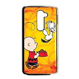 Charlie Brown And Snoopy LG G2 Cell Phone Case Black present pp001_9811848