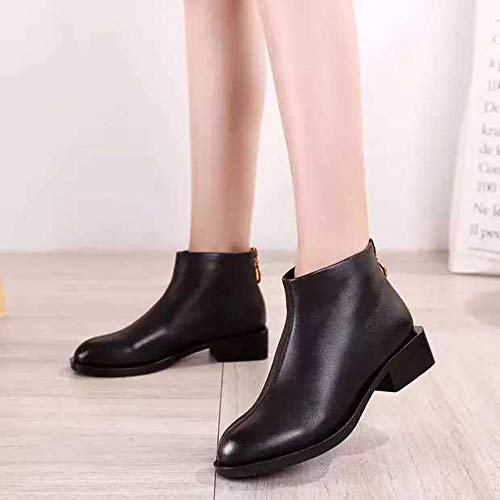 Boots Women's Square Shoes Black Martin With Clearance Head Shoes Square FarJing Single Boots Ankle Sale qSOqZg