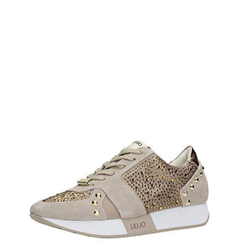Liu Jo Shoes S16195T038 Sneakers Damen Wildleder Beige 41