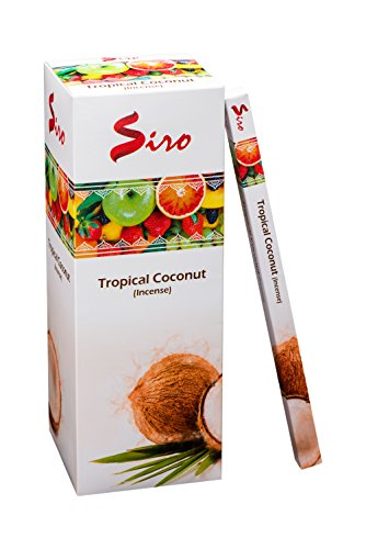 Siro Incense Sticks Gift Pack Pure & Premium Long Lasting Aroma perfect for Yoga, Meditation, Relaxation & Aromatherapy (Tropical Coconut, 200 Incense (Incense Sticks Gift)