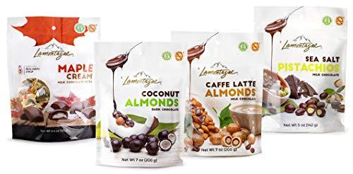 - Lamontagne Chocolate Variety Pouch,4 bags - Gluten-free, Peanut-free.