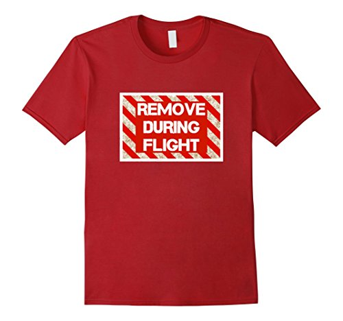 Men's Remove During Flight | Funny Pilot T-shirt 2XL Cranberry
