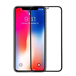 AA Accessories 6D 9H Hardness Scratch Resistant Non-Bubbles Tempered Glass Screen Protector for iPhone X/Xs (Black) 41ZF 2BFwoHLL