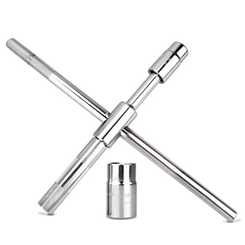 LUBAN Universal Lug Wrench Detachable Cross Spanner 17mm 19mm 21mm 23mm Standard Sockets Vehicle Car Auto Repair Tool