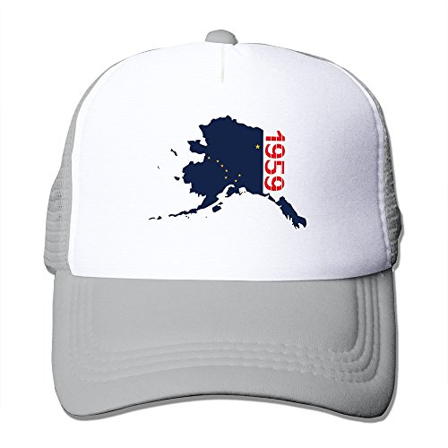 Cool 1959 Alaska Outline Adult Baseball Trucker Hat