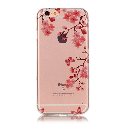 iPhone 7 Case, Firefish Clear TPU Durable Bendable Shock Absorption Bumper Anti-Slip Scratch Resistant Case for Apple iPhone 7 - Maple Leaf