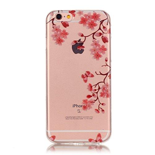 """Hülle iPhone 6 Plus / 6S Plus , LH Plum Blume Tasche Schutzhülle TPU Weich Muschel Silikon Handyhülle Schale Cover Case Gehäuse für Apple iPhone 6 Plus / 6S Plus 5.5"""""""