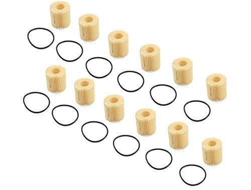 Set of 12 Engine Oil Filters Genuine 04152YZZA6OE / 04152 YZZA6 OE Pontiac Vibe Scion xD Toyota Corolla Matrix Prius