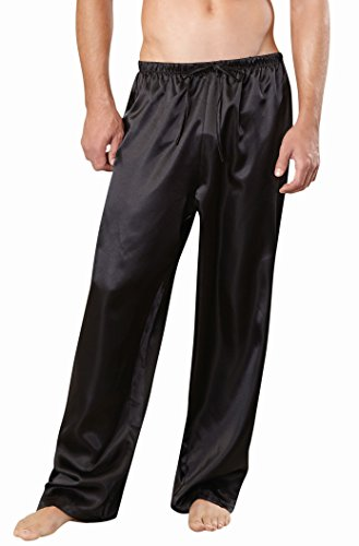 Dreamgirl Unisex Pajama Pant, Black, Medium