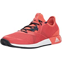adidas Men's Adizero Defiant Bounce Tennis Shoe, Trace Scarlet/White/Night Navy, 7 M US