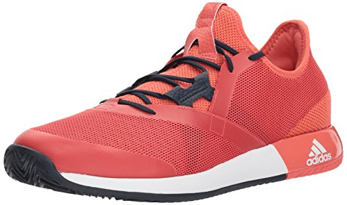 Adidas Originals Mens Adizero Defiant Bounce Tennis Shoe  Trace Scarlet White Night Navy  7 M Us