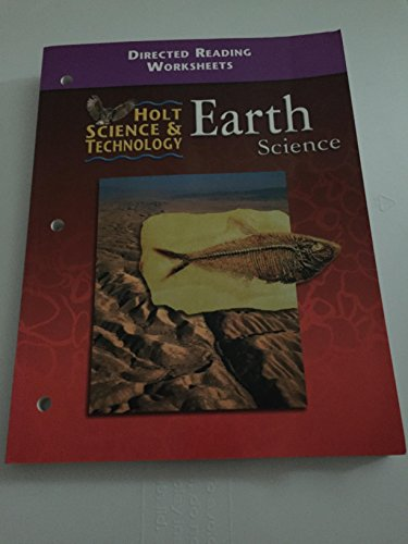 Holt Science & Technology Earth Science: Directed Reading Worksheets