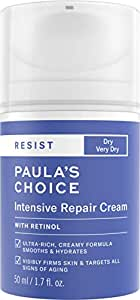 Paula's Choice RESIST Intensive Repair Cream with Retinol, Hyaluronic Acid & Jojoba, Concentrated Anti-Aging Moisturizer for Dry, Chapped Skin, 1.7 Ounce