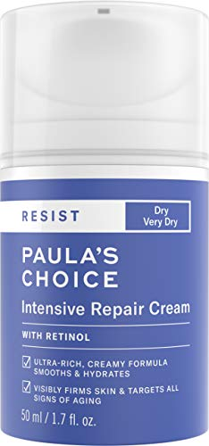 Paula's Choice RESIST Intensive Repair Cream | Retinol, Hyaluronic Acid & Jojoba | Anti-Aging Moisturizer | Dry Skin | 1.7 Ounce
