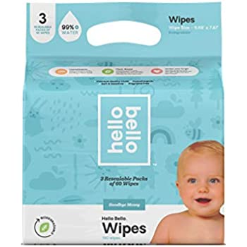 Amazon Com Hello Bello Baby Wipes 3 Pk 180ct 1 Ct Baby