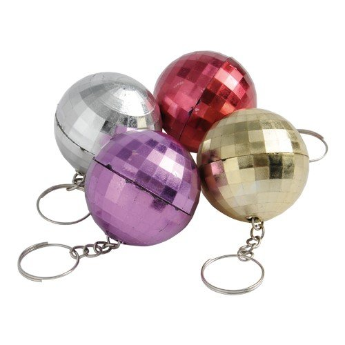 (DollarItemDirect DISCO BALL KEY CHAINS, SOLD BY 19)