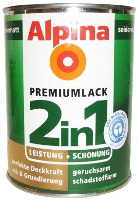 ALPINA 2in1 Buntlack & Grundierung 500 ml Honigmelone, Seidenmatt