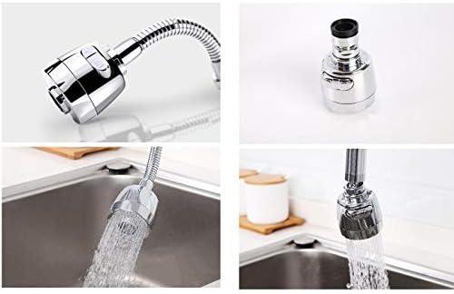 蛇口エアレーター、360度回転可能なシンクの蛇口エアレーター、デュアル機能台所蛇口エアレーター、電着表面 (サイズ : A)