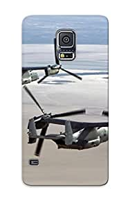 Yellowleaf Top Quality Case Cover For Galaxy S5 Case With Nice Aircraft Military V22 Osprey Appearance