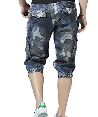 Hombres Lannister Con Más Jean Cortos Pantalones Camuflaje Cortocircuitos Verano 3 Cowboyblau Retro Ocasionales Skinny Bolsas Fashion 4 De Los Troncos qgqwxZr0