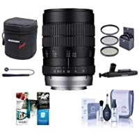 Venus Laowa 60mm F/2.8 Ultra Macro Manual Focus Lens - for Pentax K Mount - Bundle With 62mm Filter Kit, Lens Case, Cleaning Kit, Capleash II, Lenspen Lens Cleaner, Software Package