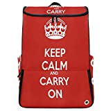 Travel Backpack Marvellous Keep Calm Duffle Backpack for Women Big Picnic Bookbag