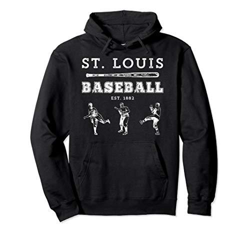 Classic St. Louis Missouri Baseball Fan Retro - Sweatshirt Cardinal Adult