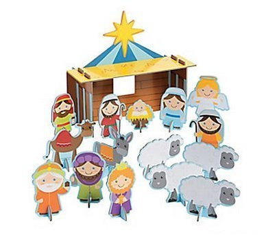 Christmas Nativity Chipboard Playset Craft Kit