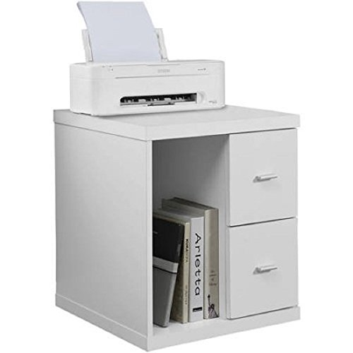 Monarch Office Cabinet with 2 Drawer On Castors (White)
