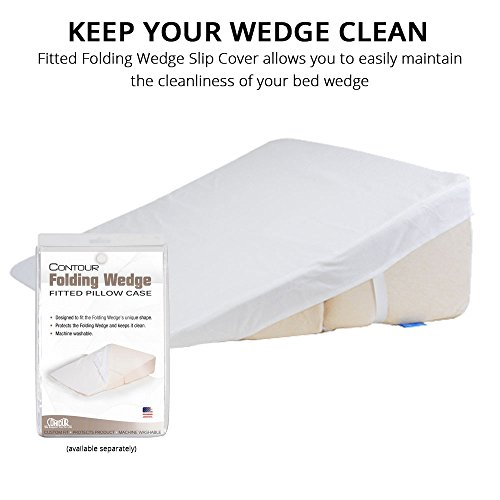 Contour Products Folding Bed Wedge Pillow, 12 Inches X 24 Inches X 24 Inches by Contour Products (Image #1)