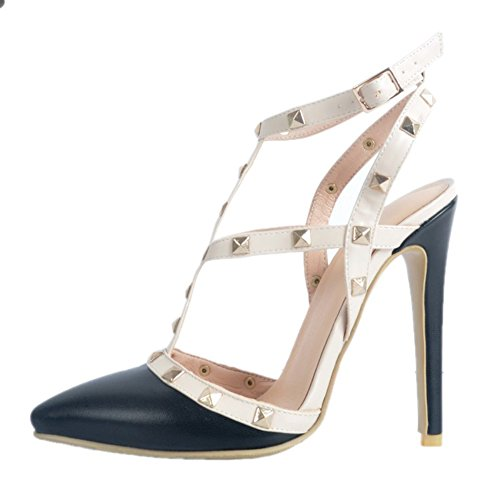 Fashion Handgefertigte Sandalen Sommer Slingback Party Heel Spikes High Kolnoo Damen Schuhe zxwqAA