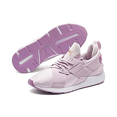 PUMA Women's Muse Satin II WNS, Winsome Orchid-Smoky Grape, 6.5 US
