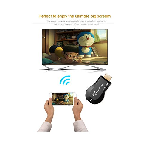 Wifi Display Dongle Wireless HDMI Dongle 1080P Dongle for Projector Airplay Dongle Digital AV to HDMI Connector for iOS/Android/Samsung/iPhone/iPad Support DLNA/Airplay Mirror/Miracast/Chromecast by Qber (Image #1)
