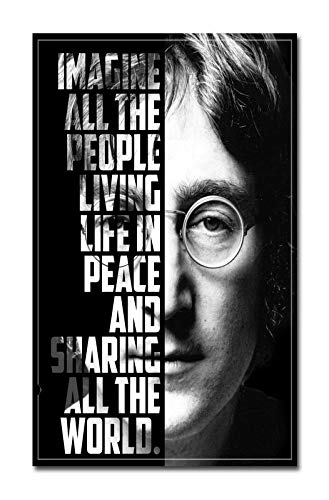 Pixelartz Wall Poster John Lennon Imagine Poster 23 Inch X 35 Inch Amazon In Home Kitchen