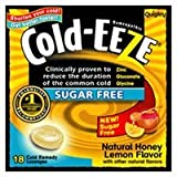 Quigley Cold-Eeze Sugar Free All Natural Honey Lemon Cold Drop Lozenges - 18 Drops by Hollister