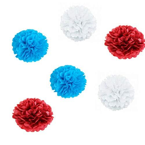 (Lemoning❤ Independence Day Decor Set Paper Ball Pentagram Spiral Banner Hanging Decor Black)