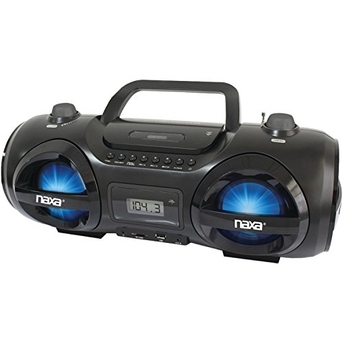 NAXA Compact Portable Stereo Boombox with Cd Player & Dig...