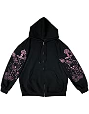 Y2k Fashion Clothes Sweatjacket Women hooded Gothic Punk Hoodie Zip Pullover Aesthetic Top Vintage Harajuku Streetwear A-5