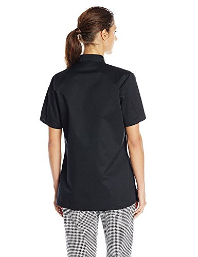 Uncommon Threads Women's Tahoe Fit Chef Coat with Custom Text, Black, X-Large by KAMAL OHAVA (Image #2)