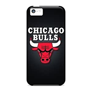 Iphone 5c OFB10601wwPO Allow Personal Design Lifelike Chicago Bulls Pattern Anti-Scratch Cell-phone Hard Covers -InesWeldon