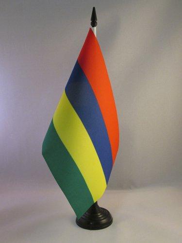 BANDIERA DA TAVOLO MAURITIUS 21x14cm - PICCOLA BANDIERINA MAURIZIANA 14 x 21 cm - AZ FLAG