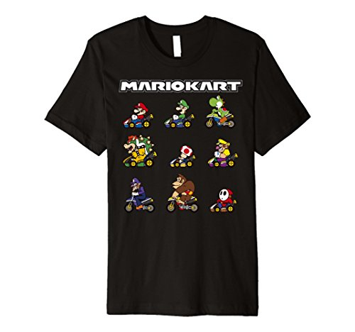 Nintendo Mario Kart Racers Ready Line-Up Premium T-Shirt