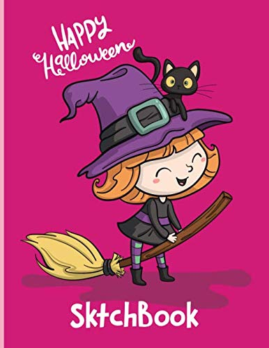 Halloween Drawing Pages (Happy Halloween SketchBook: Cut Sketch Book For Kids|Blank Paper for Drawing - 110 Pages ( 8.5