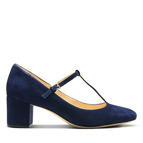 Clarks Orabella Fern Womens Wide T-Bar Court Shoe Blue 3OTuQmL