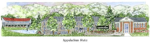 Appalachian State University - Collegiate Sculptured Ornament by Sculptured Watercolor Ornaments