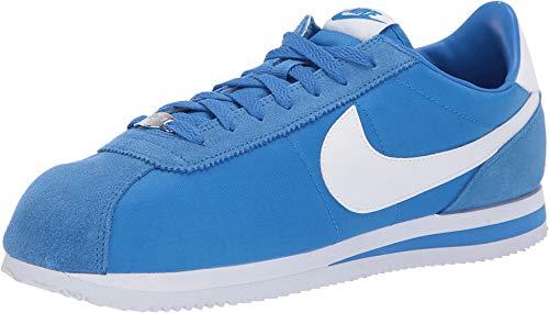Nike Cortez Basic Nylon Mens Fashion-Sneakers (Signal Blue/White, 12 D(M) US) (Sneakers Nike Mens Blue)