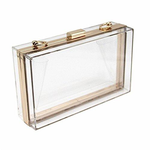 Women handbag Hard Evening Casual Shoulder Solid New Wallet Acrylic Bag Clutch Transparent Party Brand Woman Fashion RCwBpfzpq