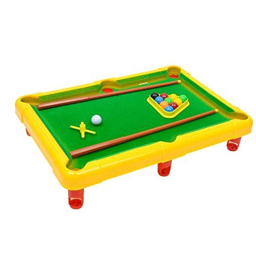 Baosity 2色選ぶ ミニ 卓上ゲーム ボール ビリヤードゲームセット ポータブル プールテーブルセット  - 黄